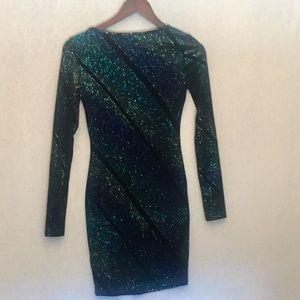 TOP SHOP Black Glittery Dress
